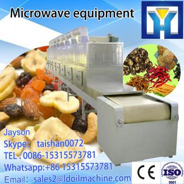 industry tunnel type microwave Bamboo fiber dryer machine/microwave oven