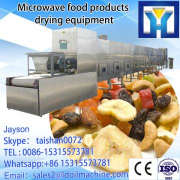 Industrial microwave drying and roasting machine for soybeans
