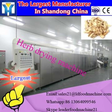 Continuous tunnel belt microwave dryer and sterilizing machine