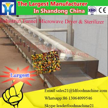 Continuous microwave drying machine