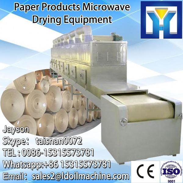 Tunnel conveyor belt type microwave drying and sterilizayion machine for soybeans #3 image