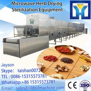 Tunnel conveyor belt type microwave roasting machine for peanuts
