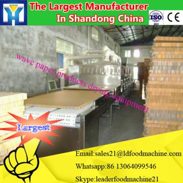 Conti tunnel type microwave dryer and sterilizing machine for herb